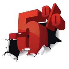-5% kedvezmény a tiéd lehet