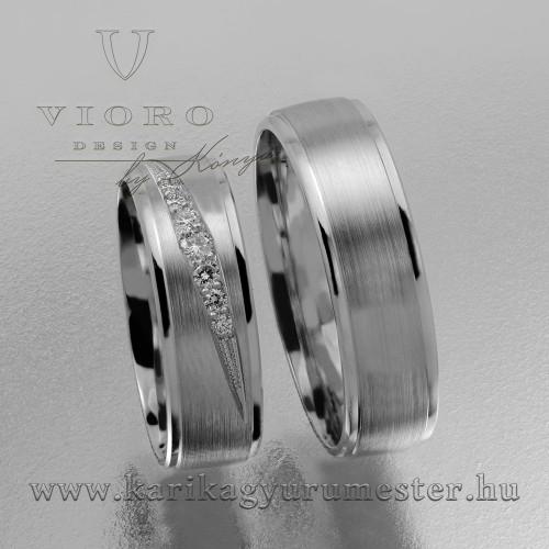 Hétköves fehér karikagyűrű pár 629/F