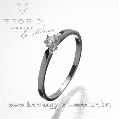 Egyköves fehérarany eljegyzési gyűrű V-108/F
