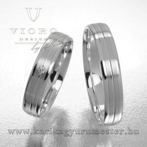 Egyköves fehérarany karikagyűrű pár 408/F