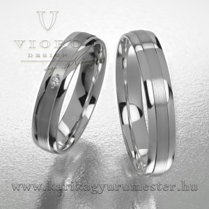 Egyköves fehérarany karikagyűrű pár  410/F