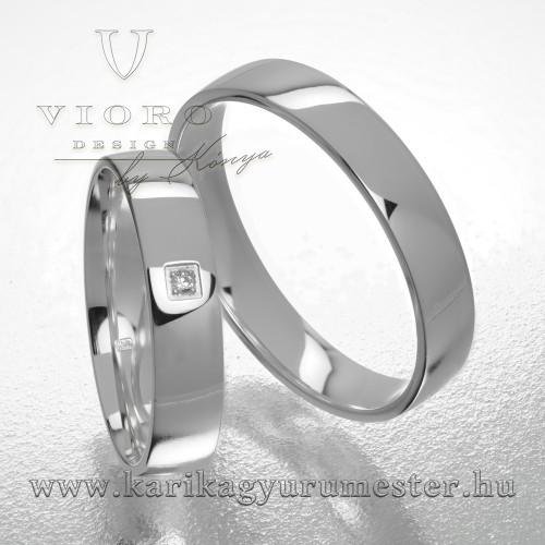 Egyköves fehérarany karikagyűrű pár  411/F