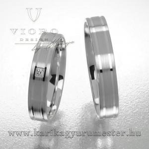 Egyköves fehérarany karikagyűrű pár 417/F