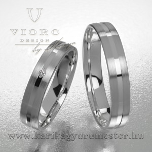 Egyköves fehérarany karikagyűrű pár  420/F