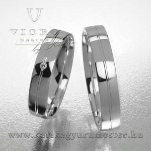 Egyköves fehérarany karikagyűrű pár  422/F