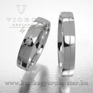 Egyköves fehérarany karikagyűrű pár  423/F