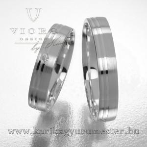 Egyköves fehérarany karikagyűrű pár  424/F