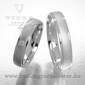 Egyköves fehérarany karikagyűrű pár  425/F