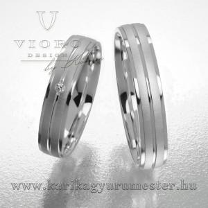 Egyköves fehérarany karikagyűrű pár  428/F