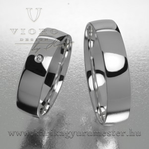 Egyköves fehérarany karikagyűrű pár  502/F