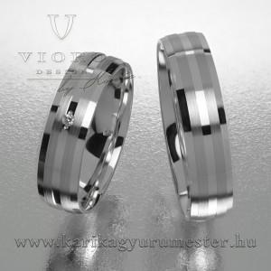 Egyköves fehérarany karikagyűrű pár  503/F