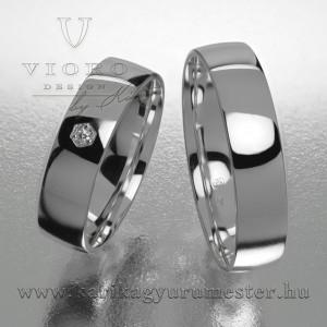 Egyköves fehérarany karikagyűrű pár 506/F