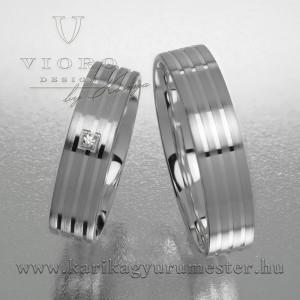 Egyköves fehérarany karikagyűrű pár  508/F