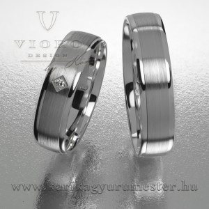 Egyköves fehérarany karikagyűrű pár  511/F