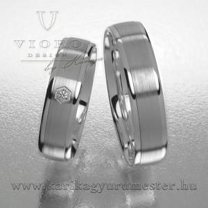 Egyköves fehérarany karikagyűrű pár 512/F