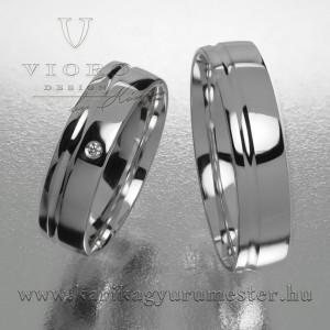Egyköves fehérarany karikagyűrű pár  516/F