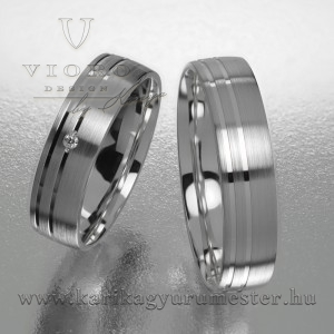 Egyköves fehérarany karikagyűrű pár  518/F