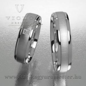 Egyköves fehérarany karikagyűrű pár  520/F