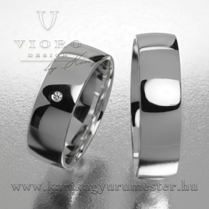 Egyköves fehérarany karikagyűrű pár  602/F