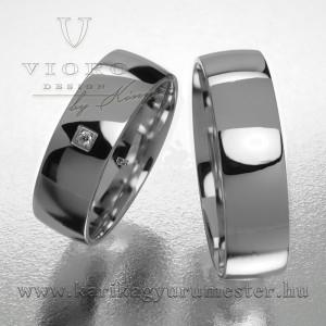 Egyköves fehérarany karikagyűrű pár  603/F