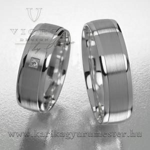 Egyköves fehérarany karikagyűrű pár  606/F