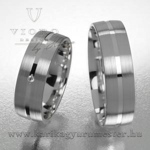 Egyköves fehérarany karikagyűrű pár  609/F