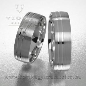 Egyköves fehérarany karikagyűrű pár  617/F