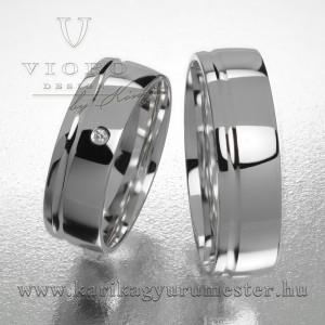 Egyköves fehérarany karikagyűrű pár  619/F