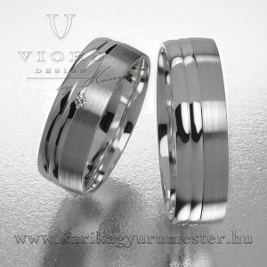 Egyköves fehérarany karikagyűrű pár  620/F