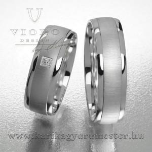Egyköves fehérarany karikagyűrű pár  621/F