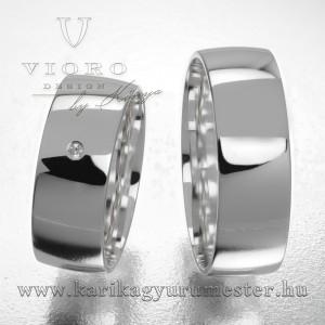 Egyköves fehérarany karikagyűrű pár  702/F