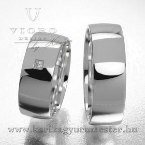 Egyköves fehérarany karikagyűrű pár  703/F