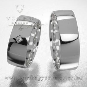 Egyköves fehérarany karikagyűrű pár  708/F