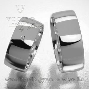 Egyköves fehérarany karikagyűrű pár  802/F