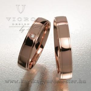 Egyköves rozéarany karikagyűrű pár 405/R