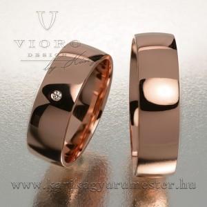 Egyköves rozéarany karikagyűrű pár 602/R