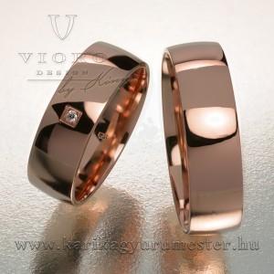 Egyköves rozéarany karikagyűrű pár 603/R