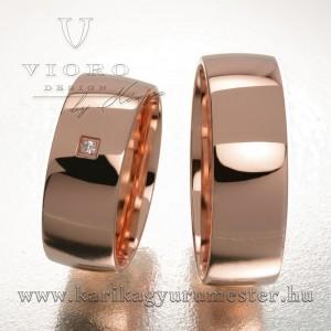 Egyköves rozéarany karikagyűrű pár 703/R