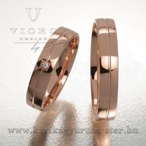 Egyköves rozéarny karikagyűrű pár 423/R