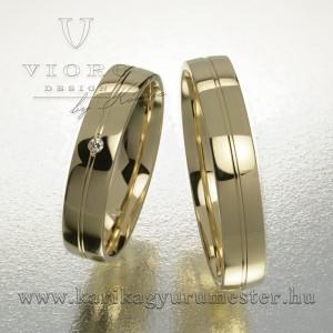 Egyköves sárgaarany karikagyűrű pár  422/S