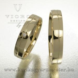Egyköves sárgaarany karikagyűrű pár  423/S