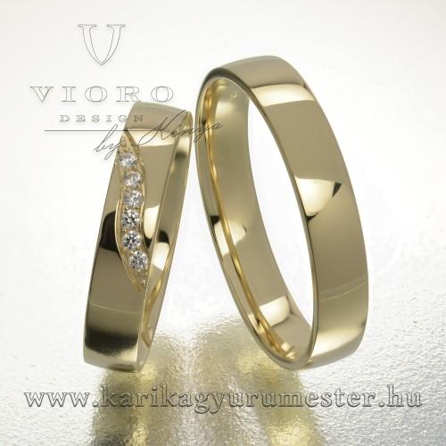 Hatköves sárgaarany karikagyűrű pár  412/S